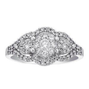 0.75 Carat Round Cut Diamond Cocktail Ring